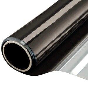 Image 5 - רוחב 60/70/80/90 cm אורך 400 cm אחד דרך שיקוף רעיוני חלון סרט, דביק פרטיות זכוכית גוון חום שליטה אנטי Uv