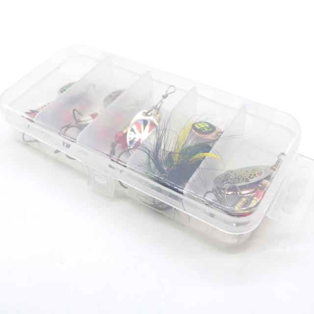 10pcs/lot LUSHAZER fishing spoon lures spinner bait 2.5-4g fishing wobbler metal baits spinnerbait isca artificial free with box 6