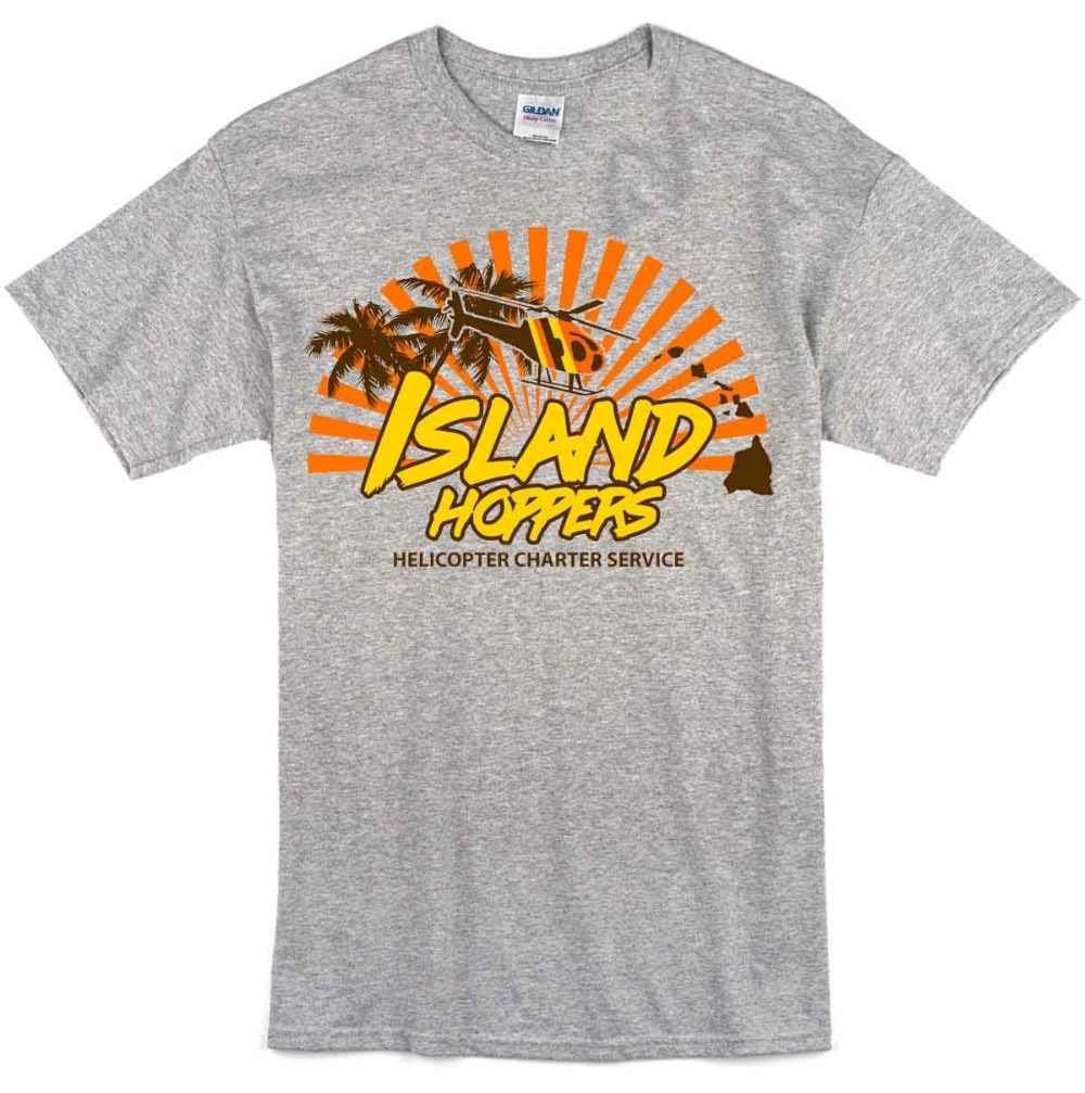 14ba18ea3 ... Island Hoppers Magnum Pi Inspired Mens T-Shirt Tee 80'S Tv Show 2019  New Trendy
