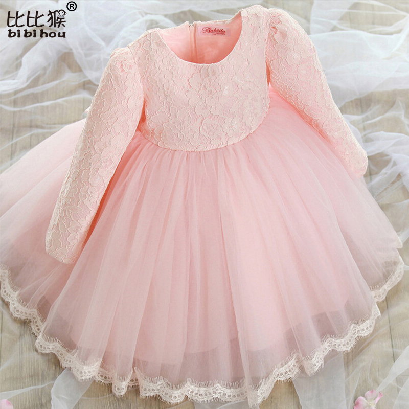 Подробнее о Girls Dress Baby Toddler Girl Lace Bow Tie Princess Party Dresses Girl 1st Birthday Tutu Dress Children Clothes Costume For Kids children costumes for girls sweet princess dress baby girl school dresses for birthday party long sleeved bow girl kids clothes