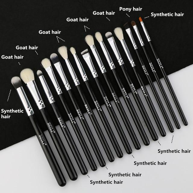 BEILI Black Luxe Professional 22pcs  Synthetic hair Powder Foundation Goat hair Eye shadow Blending Makeup Brush set 4
