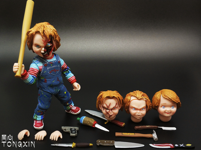 child s play chucky scary movie doll toy action figure movable model