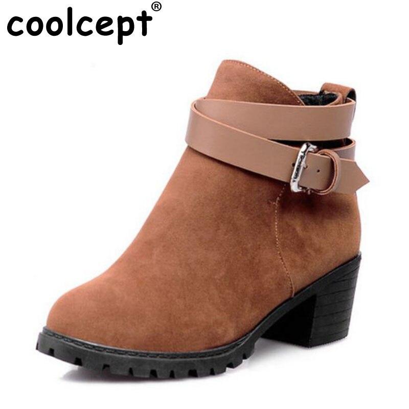 351676466d3ee Click here to Buy Now!! Coolcept livraison gratuite cheville à talons hauts  bottes courtes femmes ...