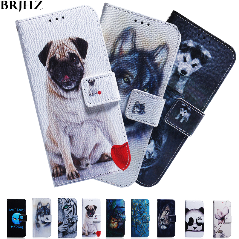 M10 M20 M30 Case on For Fundas Samsung Galaxy M10 Case Painted Flip Leather Wallet Magnet Cases For Coque Samsung M30 Case Cover