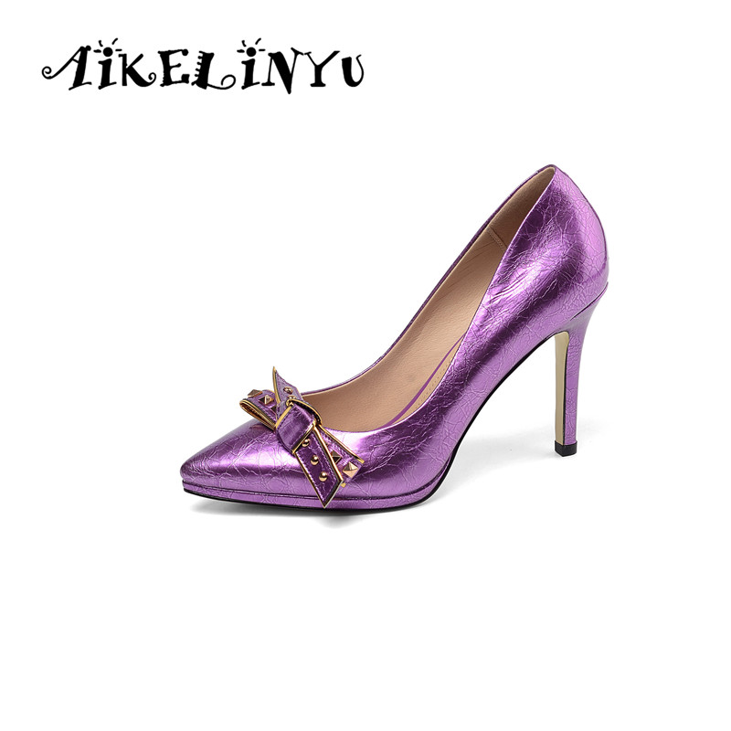 AIKELINYU Classics Wedding Lady Pumps Sexy Shallow Party Slip-on Thin 9.5cm High Heels Pumps Pointed Toe High Quality Women ShoeAIKELINYU Classics Wedding Lady Pumps Sexy Shallow Party Slip-on Thin 9.5cm High Heels Pumps Pointed Toe High Quality Women Shoe