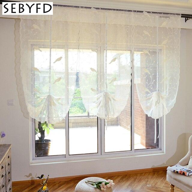 Weiß Tüll Fenster Vorhang für Schlafzimmer Wohnzimmer Dekorative, 3D ...