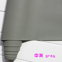 Gray 1mm Thick Leather Faux Leather Fabric Car Interior Leather Car Seats Leather Cushion Upholstery
