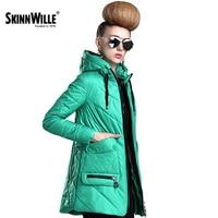 SKINNWILLE2017 חדש גלימת מעיל Windproof מעיל רוח צווארון גדול מעיל בגדי כותנה האביב של נשים מעיל מרופד כותנה בגדים