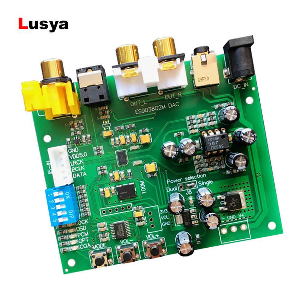 DC 9-15 ボルト ES9038Q2M I2S IIS DSD DOP 同軸繊維 SPDIF デジタルオーディオ DAC デコーダボード 44.1 k -192 k DSD64 32bit 384 k DSD128 DSD256