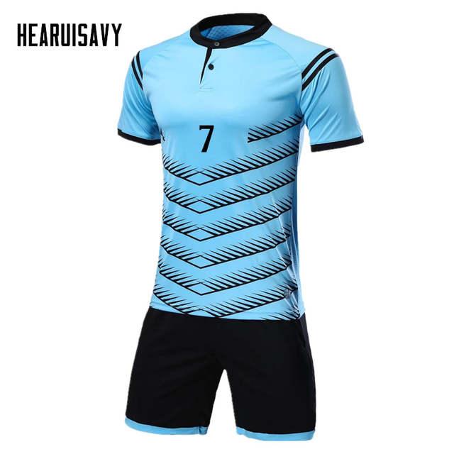 placeholder Hearuisavy Football uniform Breathable Men s Youth Soccer  Jerseys Kit custom survetement football 2018 Training suit b1a09f475