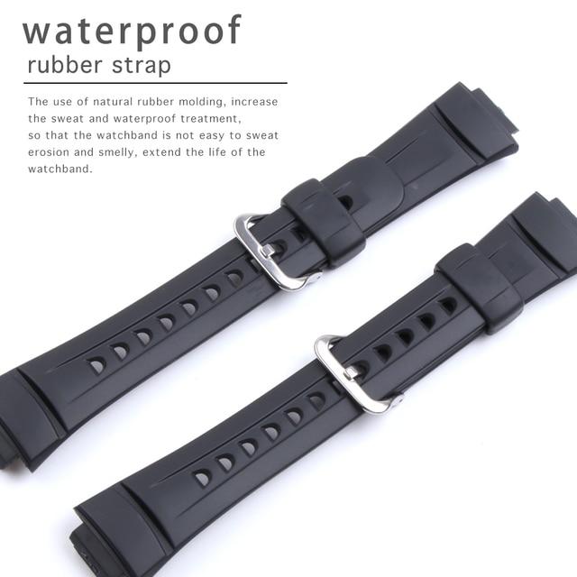 Silika jel spor yarış saat kordonları Casio G 2900 serisi su geçirmez kauçuk spor silikon kayış Watchband bilezik aksesuarı