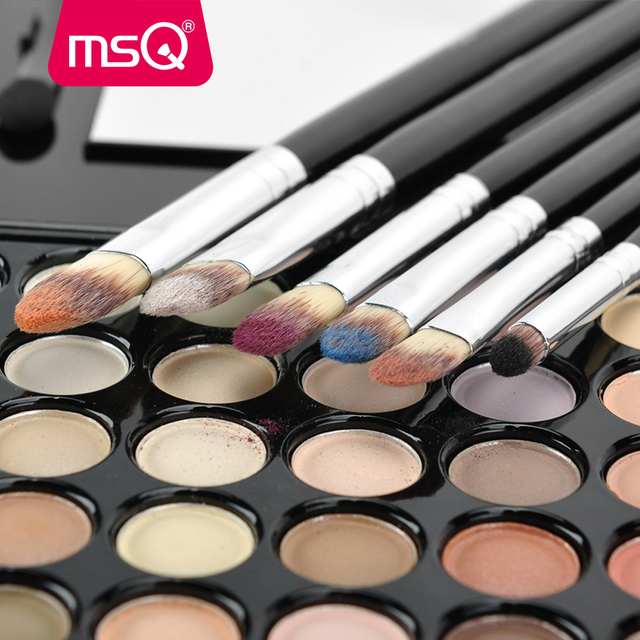 MSQ 6pcs Eyeshadow Makeup Brushes Set Professional Eye Brush Eye Shadow Blending Make Up Brush Soft Synthetic Hair 1