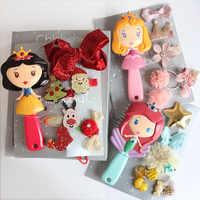Disney semblant jouer peigne congelé princesse antistatique soins des cheveux brosses bébé filles habiller maquillages anniversaire noël enfants cadeaux