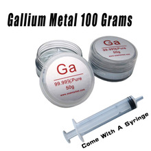 Gallium Metal 99.99% Pure 100 Grams