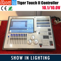 2018 Tiger Touch 11.0/10.1 System Controller Lighting DMX Console 6144 Channels Dimmer Pack Screen With Flightcase Free Shipping