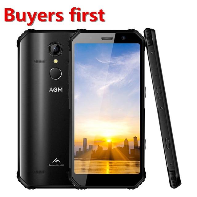 Téléphone robuste d'origine AGM A9 3 GB 32 GB IP68 étanche 5400 mAh 5.99