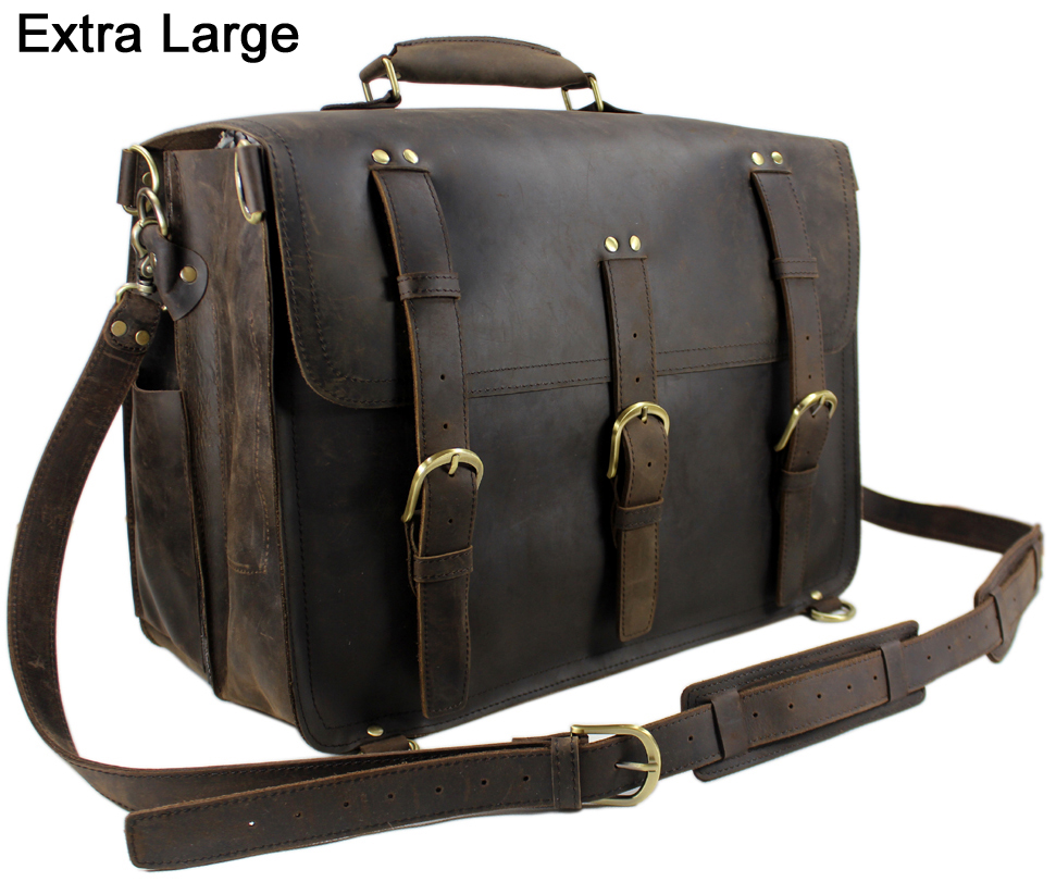 Leather Saddle Travel Bag