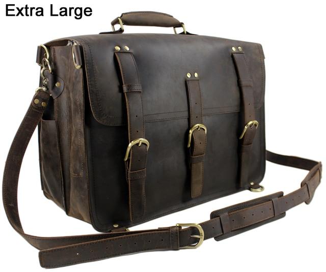 514933190 Vintage Men Guarantee 100% Genuine Leather Backpack Large Leather Luggage  saddle Backpack Travel Bag Duffle
