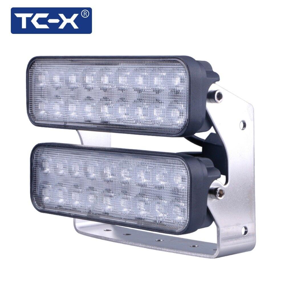 TC-X Ультра Потока 108 Вт Регулируемый Угол LED Work Light Bar 12 В 24 В для Offroad Трактор Прицеп Снегоход Вождения Автомобиля огни