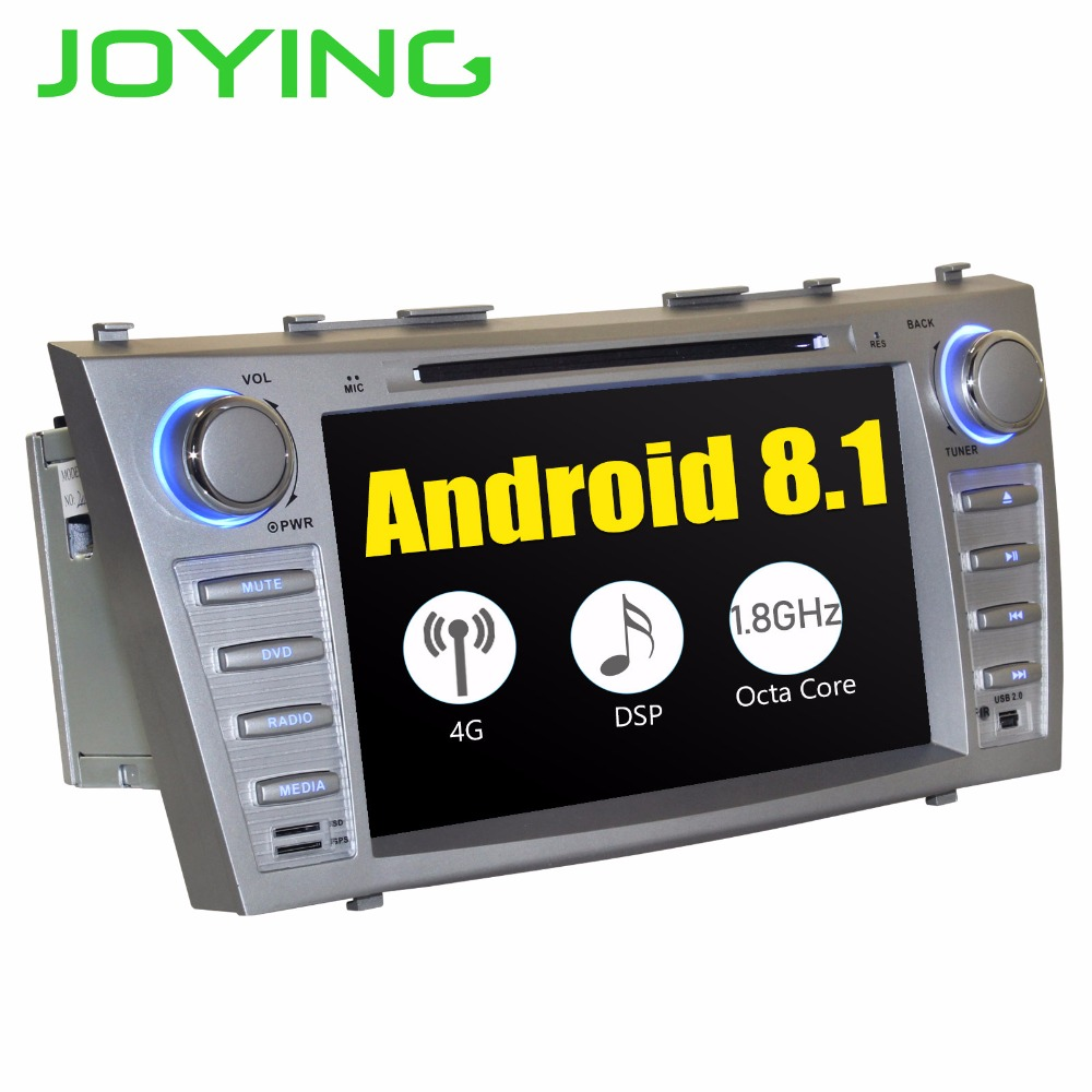 JOYING 2 DIN 8 INCH Android 8 Octa core car autoradio stereo GPS player for Toyota Camry 2007-2011 GPS Tape Recorder for Aurion
