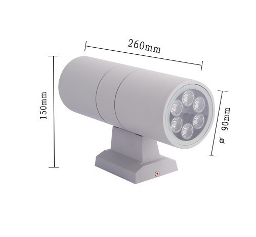 12w Double wall Lamp LED wall light up an Down outdoor waterproof/AC85-264V 2year warranty  раскладка для an 85 135а 4м суперхром
