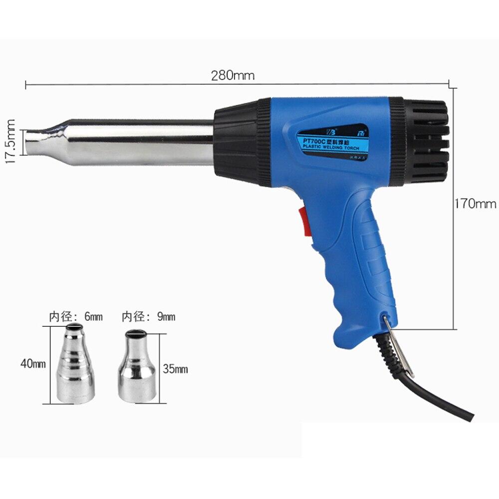 700W CE RoHS Kvalita Tepelná puška nárazníku PP PVC svařovací - Elektrické nářadí - Fotografie 5