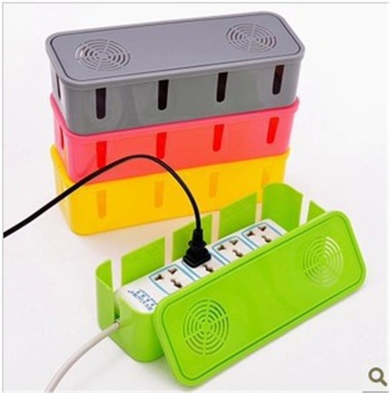 Power Strip Storage Box Organizer Rack Safety Socket Outlet Board Container Cables Electric Wire Case Accessories
