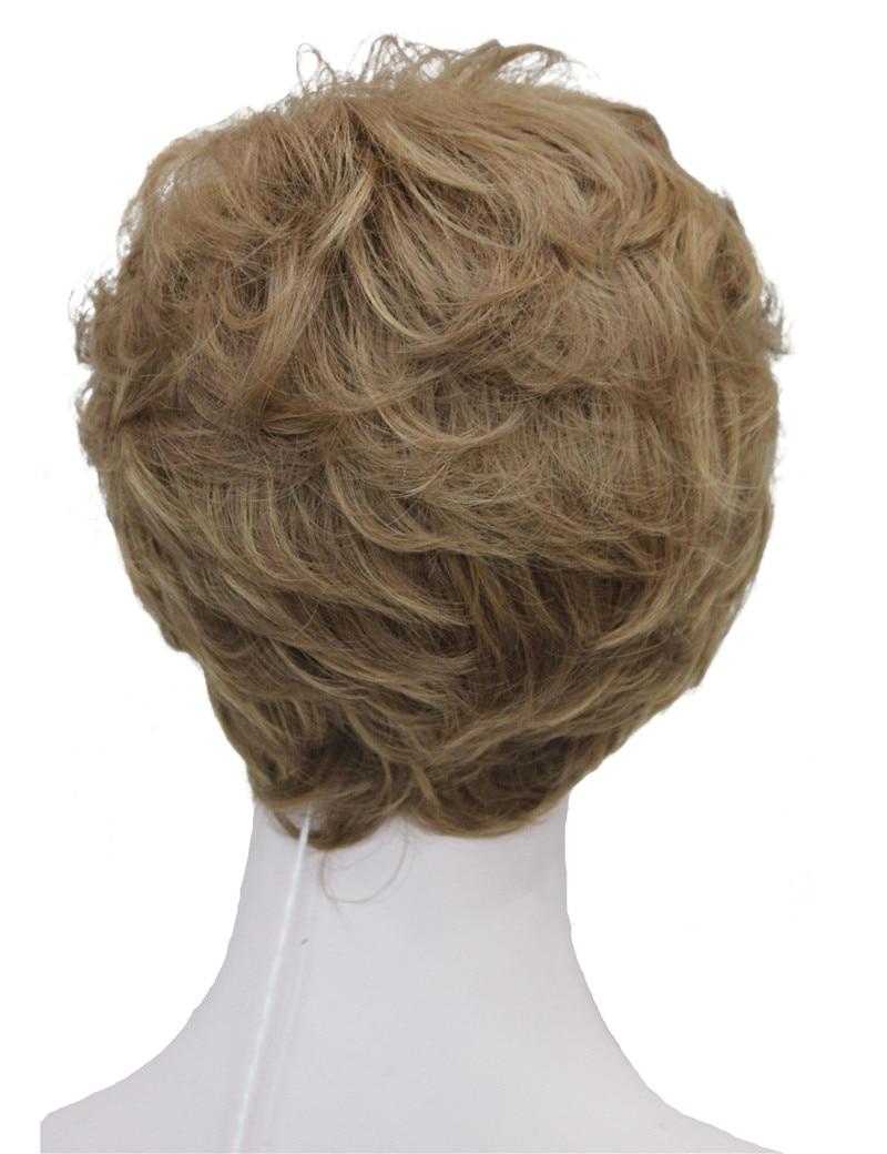 StrongBeauty Shag стиль синтетические парики короткие волнистые слоистые темно-Обурн пользовательские парики для афро-американских - Цвет: 12TT26