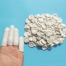 150pcs טבעי גומי כפפות מיטות אצבע לטקס אצבע מגן חד פעמי כפפות