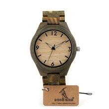 Zegarek drewniany BOBObird Starling