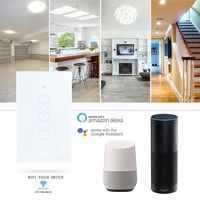 Wifi Smart Wall Touch Switch Automation Module Glass Panel Mobile APP Remote Control work with Amazon Alexa Google Home US