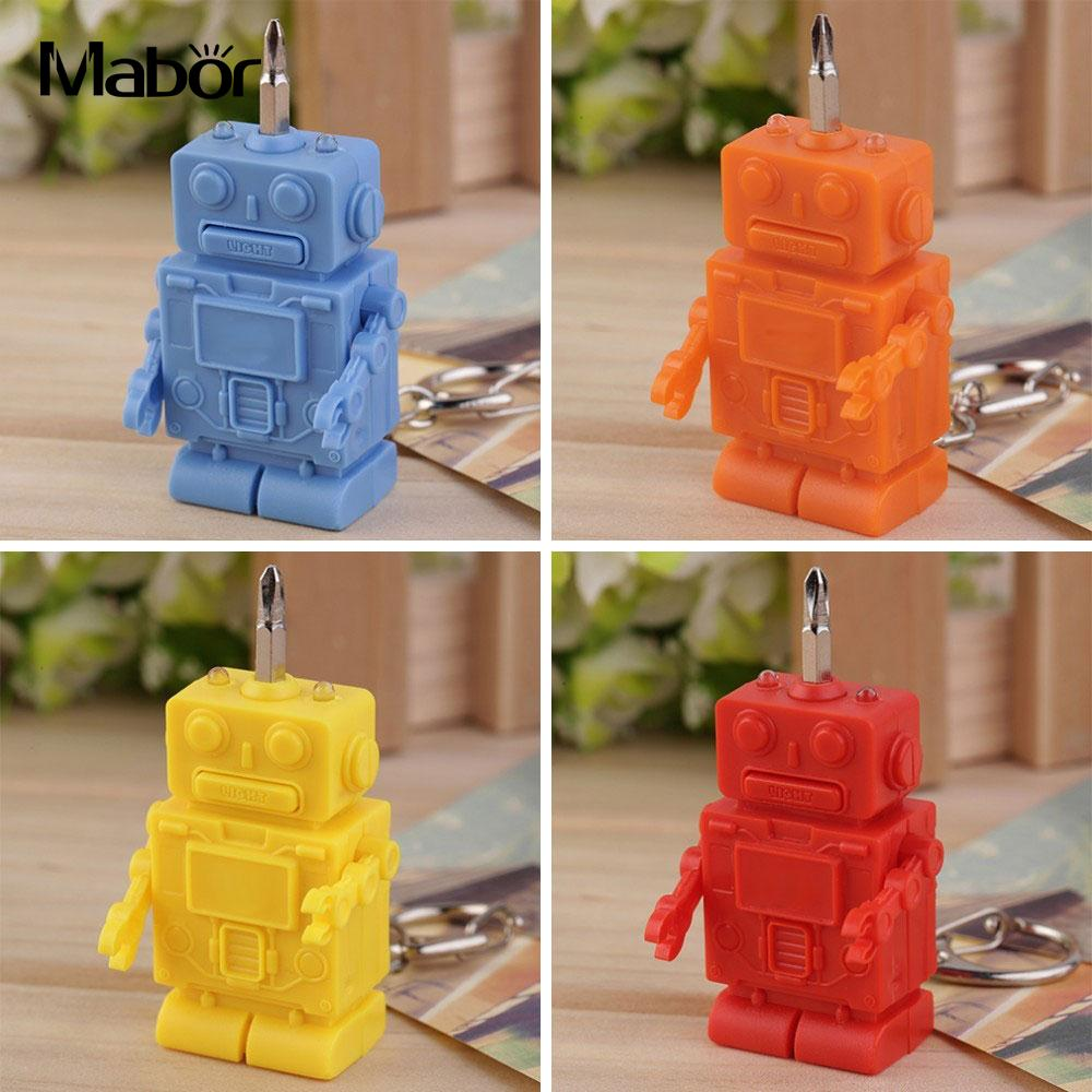 Durable Useful Screwdriver Fold Screwdriver Portable Screwdriver Robot LED Flashlight Multicolor Emergent Lamp Tools Set
