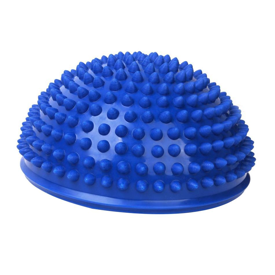 Spiky Massaging Hemisphere Foot Sole Massage Balancing Ball Blue