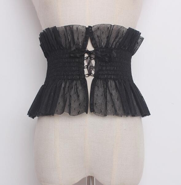 Women's runway fashion wide lace Cummerbunds female korean fashion Dress Corsets Waistband Belts decoration wide belt R889