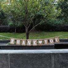 1 компл. ручной работы спасибо Свадьба Бантинг Баннер Photo Booth Реквизит партия гирлянды украшения опора
