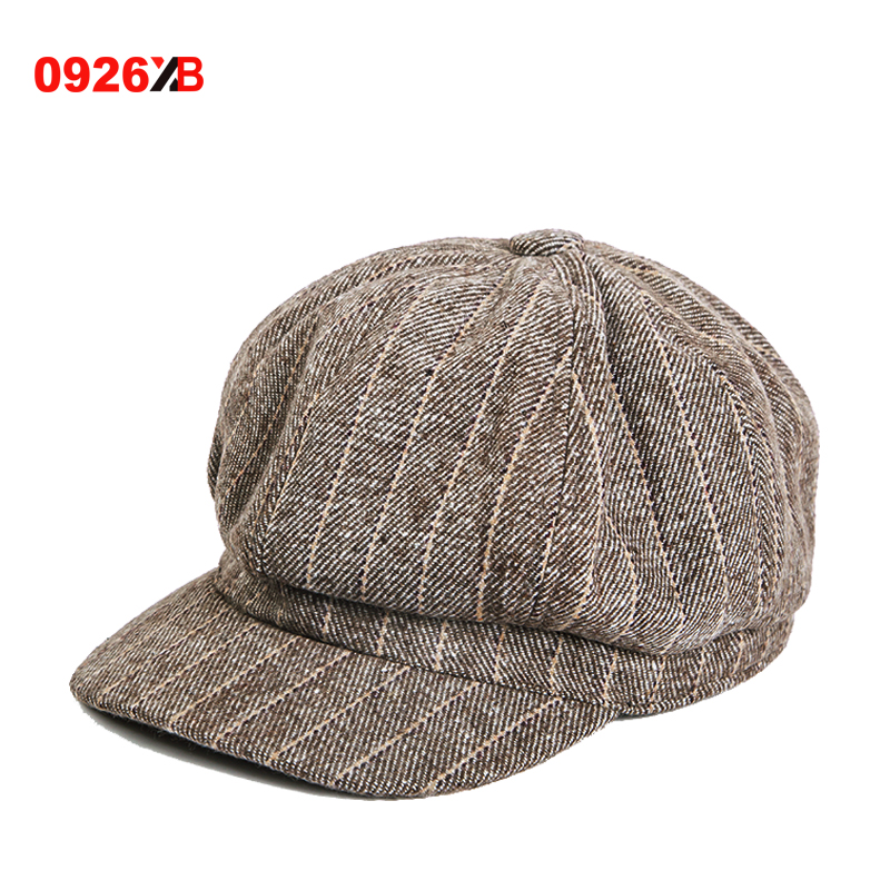 0926XB Berets Women New Caps Retro Vintage European Old Style Painter Hats  2018 Spring Autumn Striped Casual Hats XB-A218 1922cf545e7