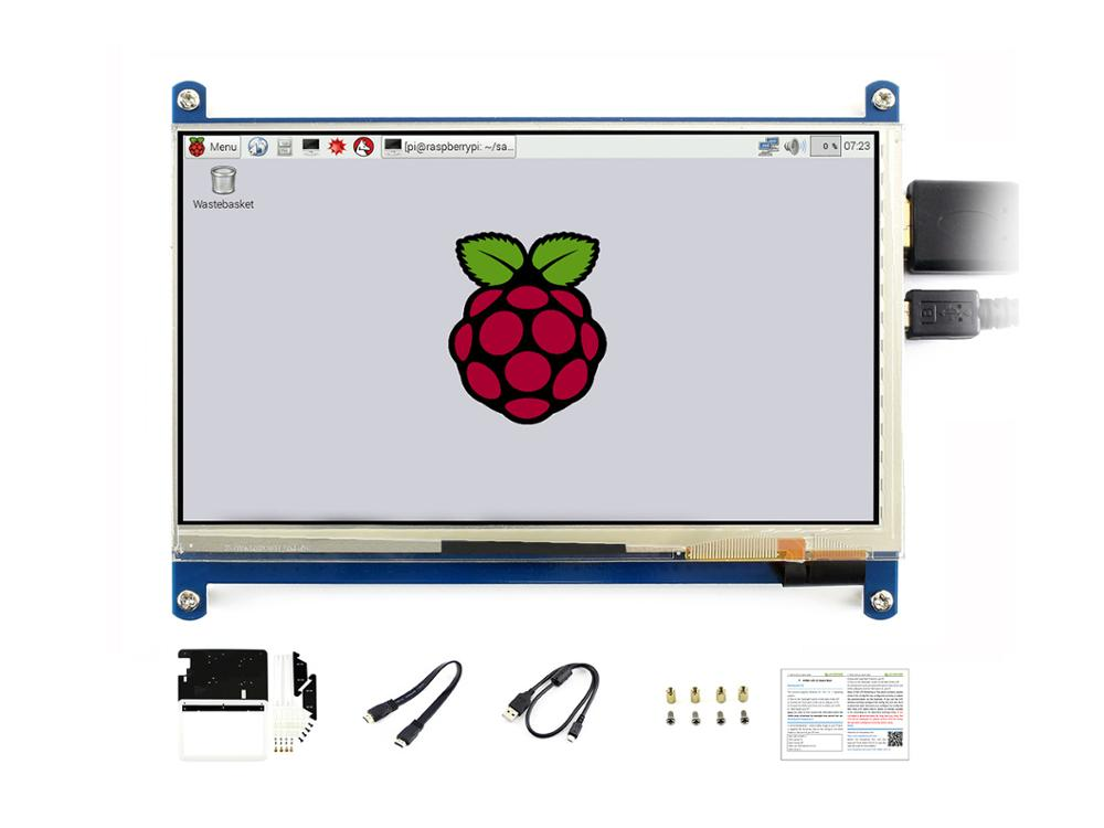 Waveshare 7inch HDMI LCD C with bicolor case Capacitive Touch Screen 1024 600 for Raspberry Pi
