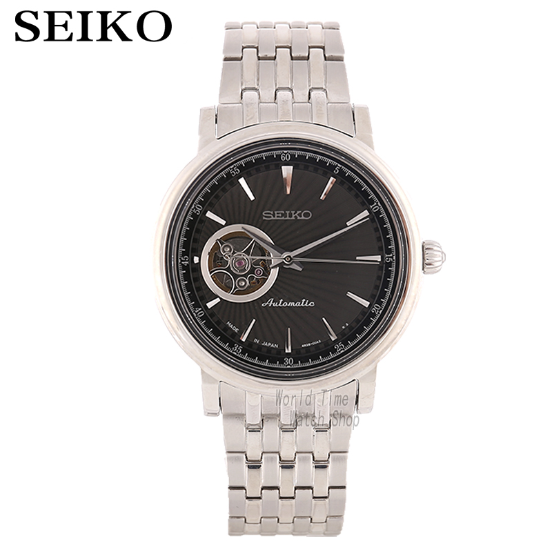 SEIKO Watch Presage Men'S Strap Business Waterproof Automatic Mechanical Watch SSA039J1 SSA018J1 SSA089J1 SSA090J1 SSA015J1 genuine leather shoes fashion2017 new autumn women wedges shoes high heel platforms for women casual shoes pumps elevator women
