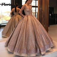 Generous Bling Long Evening Dresses abiye gece elbisesi Dubai Turkish Arabic Formal Prom Gowns Robe de soiree Abendkleider 2018