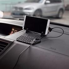Нескользящий Настольный автомобильный держатель с креплением на кабель, зарядная подставка для мобильного телефона, Магнитная подставка для приборной панели, универсальная подставка для iPhone, samsung