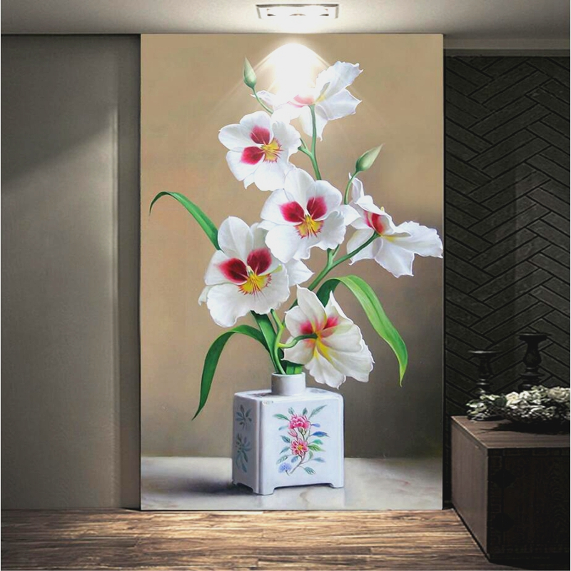 Customize Any Size 3D Photo Flower Wallpaper Murals Watercolor flowers 3d Stereoscopic Wall paper Home Decor Kitchen Living Room shinehome black white cartoon car frames photo wallpaper 3d for kids room roll livingroom background murals rolls wall paper