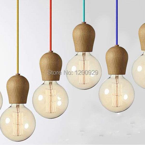 ФОТО New Arrival Modern Brief Wood Pendant Light Bar Table Decoration -Excluded Bulbs  PLL-241