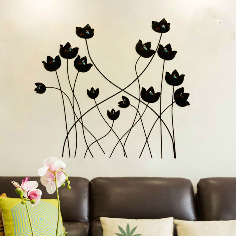 Metal hierro mural para colgar colgante tulip n for Decoracion pared metal