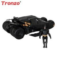 Tronzo 2 w 1 Mroczny Rycerz Batman Batmobil Zabawki Suszarka czarny Samochód Vehecle Figurka Kolekcja Model Lalki Prezent Dla Dzieci