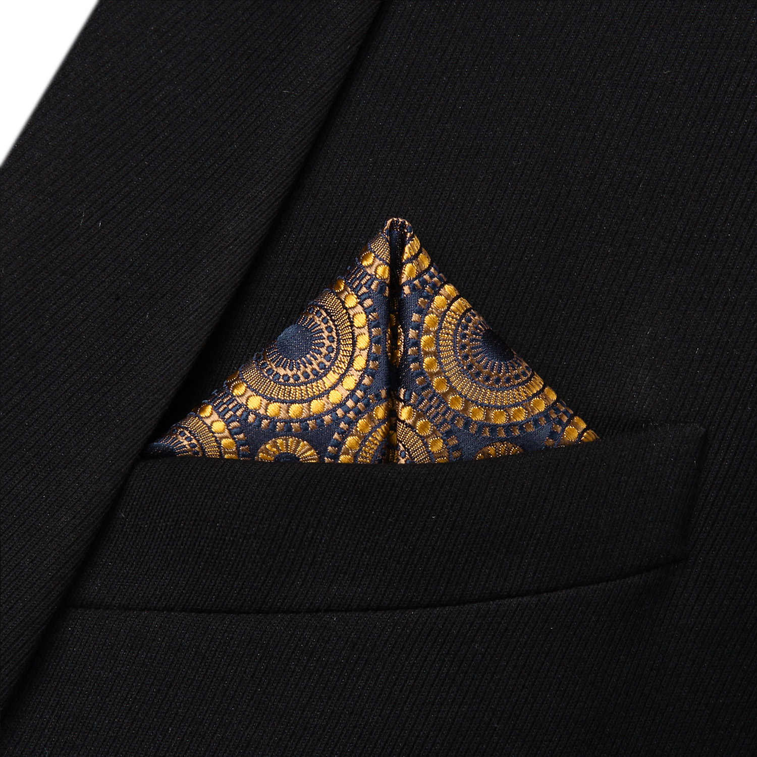 ca54c1c12a5d ... Party Pocket Square Classic Wedding BF804DS Gold Navy Blue Floral  Bowtie Men Silk Self Bow Tie
