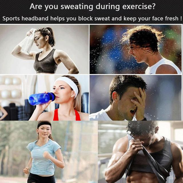 HobbyLane Unisex Outdoor Sports Sweat-absorbent Hair Band Antiperspirant Belt Hair Towel Running Yoga Fitness Accessories 1