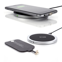 W6 +チー標準金属ボディワイヤレス充電器スタンドサポートiphone 8 8 p ×ユニバーサルワイヤレス充電パッド用サムスンs8注8