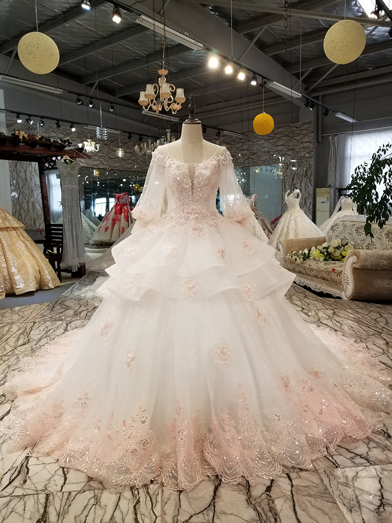 bf9cb2aa20 LS74232 vestido de noiva 2019 ivory and champagne off shoulder sweetheart  ball gown lace up wedding dresses with long trainUSD 668.09-779.27/piece