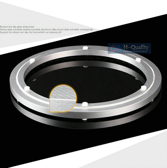OD 450MM Luxury Voice Erasure Strap+Thicken Aluminium Swivel Lazy Susan Rotary Base Dining Table Turntable of Frosted Surface