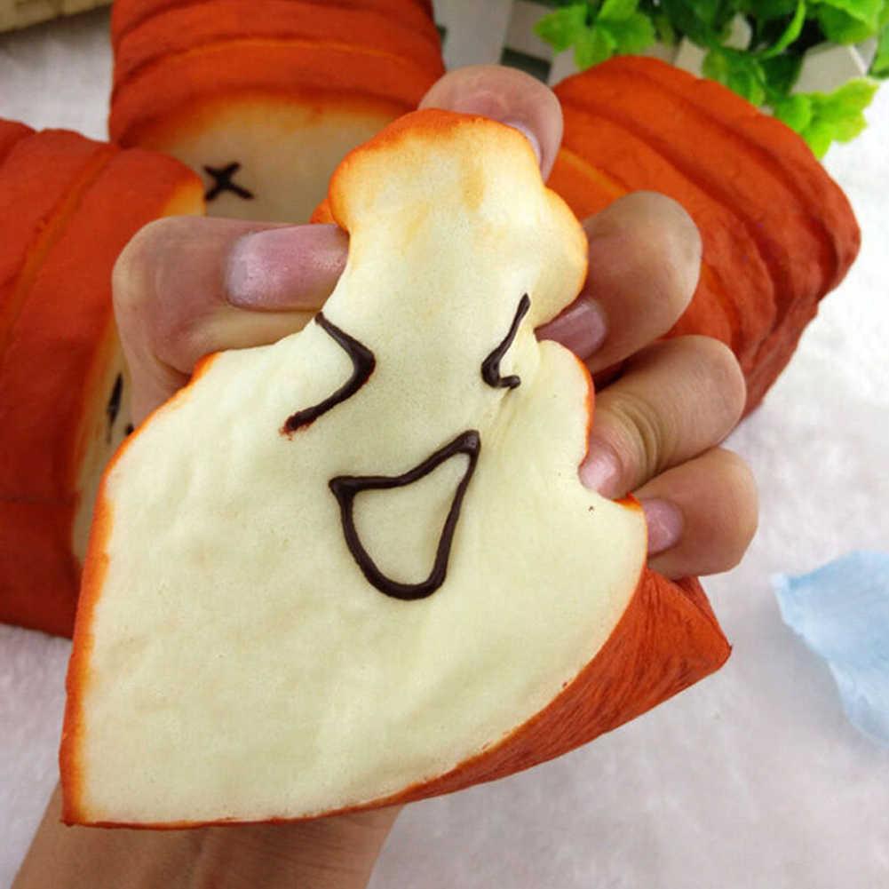 1 шт. 2018 забавные Моделирование поддельные хлеб милый большой тост ломтики торта магазин витрина Модель игрушечные лошадки